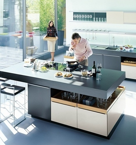 Open Kitchen Design with Dining and Living Room | Kitchen Design - Functional Ergonomics | Scoop.it