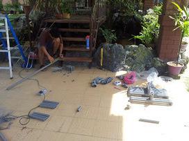 Mahfudz' backyard aquaponics.   Aquaponics in Action   Scoop.it