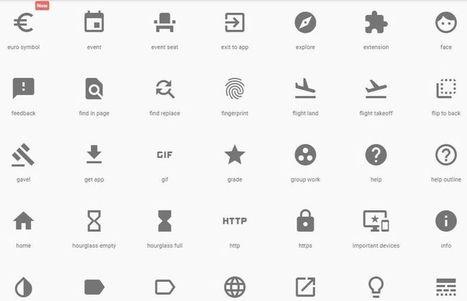 Material icons: gran colección de iconos Material design ofrecidos por Google | ELE TIC Educaglobal | Scoop.it