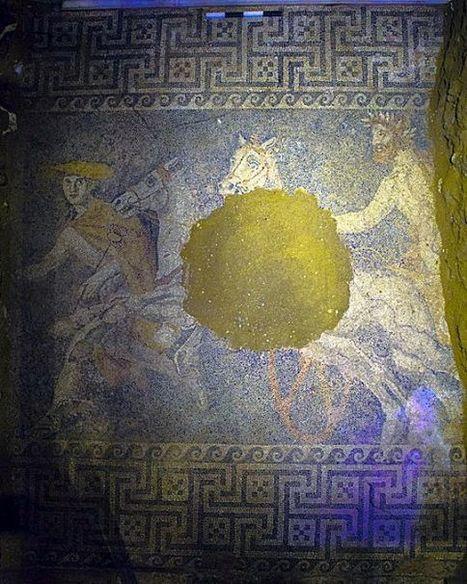 Une magnifique mosaïque découverte dans la tombe d'Amphipolis   Bibliothèque des sciences de l'Antiquité   Scoop.it