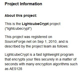 SourceForge.net: LightcubeCrypt - Project Web Hosting - Open Source Software | ICT Security Tools | Scoop.it