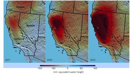 """These maps of California's water shortage are terrifying (""""we don't know how much is left underground"""")   Water Stewardship   Scoop.it"""