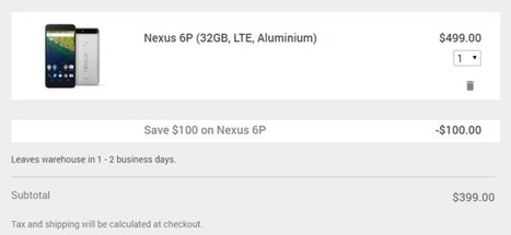 [Deal Alert] Google Store joins in $100 off Nexus 6P deal, adds $30 off select Chromebooks, $5 off Chromecasts, and more   ANALYZING EDUCATIONAL TECHNOLOGY   Scoop.it