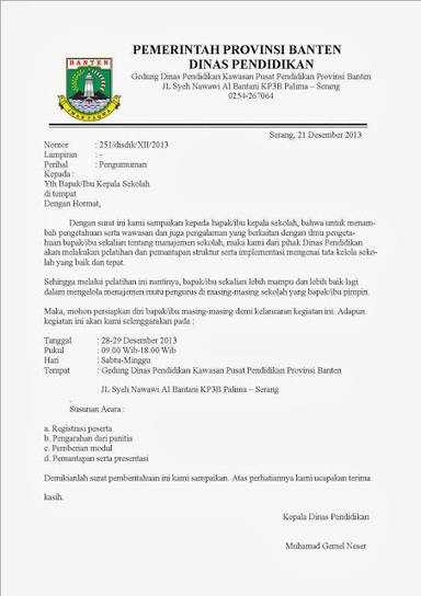 contoh surat resmi dinas ~ KESAMBET | cara menghilangkan noda hitam bekas jerawat | Scoop.it