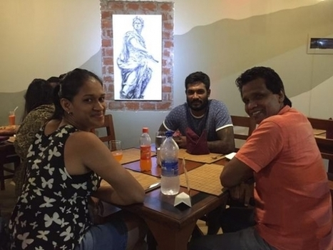 (Photos) Kapugedara and wife at a restaurant | Sri Lanka Cricket | Scoop.it