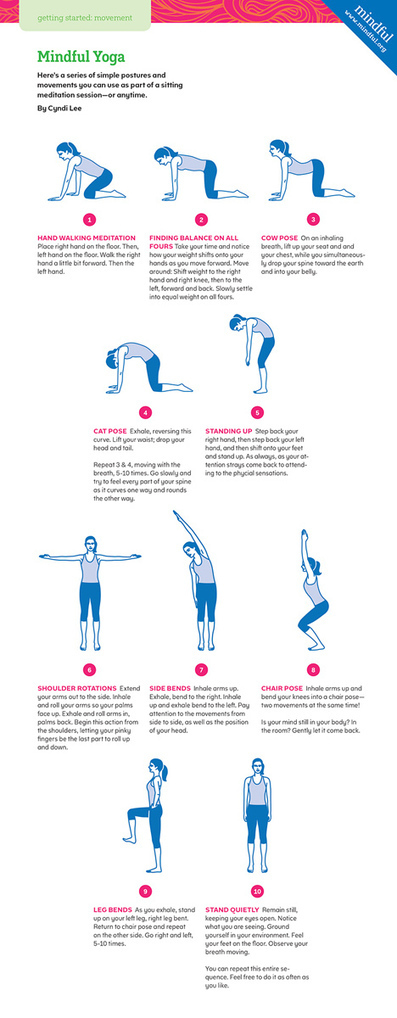 10 Yoga Poses to Practice Before Meditation, from Mindful magazine | Mindful | Exercise: MOVE More! | Scoop.it