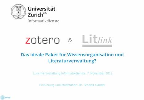 Zotero und Litlink - das ideale Paket für Wissensorganisation und Literaturverwaltung? | Zotero | Scoop.it