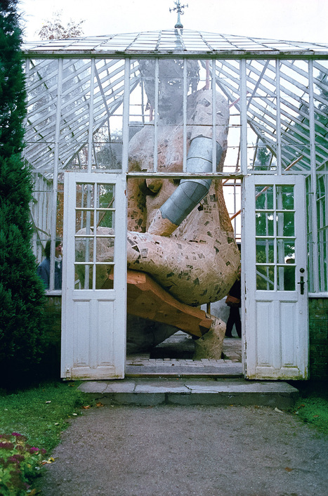 In the #Greenhouse: A #Figure Enclosed Within a Glass Greenhouse by Susanne Ussing #art #sculpture | Luby Art | Scoop.it