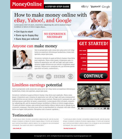 make-money-online-with-ebay-lp-014 | Make Money Online landing page design preview. | buy landing page design | Scoop.it