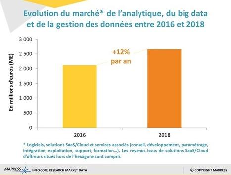 Analytique, big data & gestion des données : un marché de 1,9 milliard d'euros en France | Big data, Data,Open Data, Medecine predictive | Scoop.it
