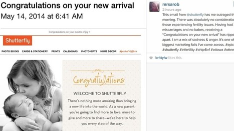 Shutterfly Congratulates A Bunch Of People Without Babies On Their 'New Arrivals' | MarketingTechnology | Scoop.it