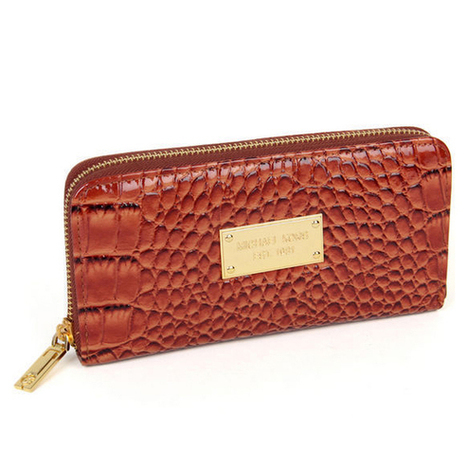 Classical Michael Kors Jet Set Python Embossed Continental Large Brown Wallets at Prettybagoutlet | Michael kors Wallets | Scoop.it