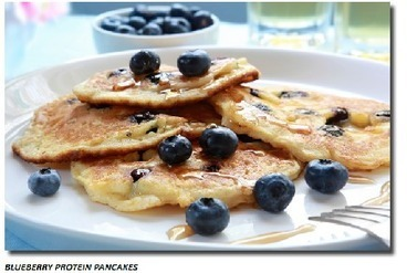 Blueberry Protein Pancakes Recipe | Useful Fitness Articles | Scoop.it
