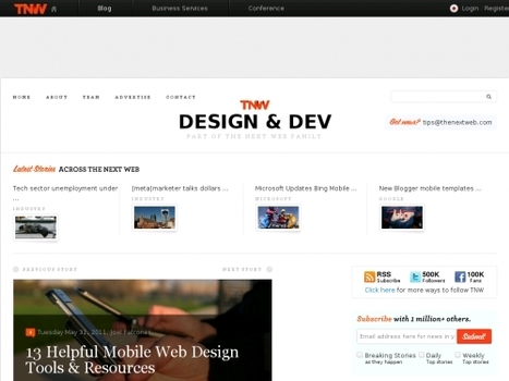 13 outils pratiques de webdesign pour mobile | Websourcing.fr | Web mobile - UI Design - Html5-CSS3 | Scoop.it