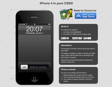 Un iPhone 4 en CSS3 - Blogeek   Les news du Web   Scoop.it