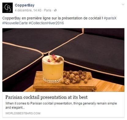 Comment les bars branchés parisiens communiquent-ils sur les réseaux sociaux?   Veille : Community management SMO   Scoop.it
