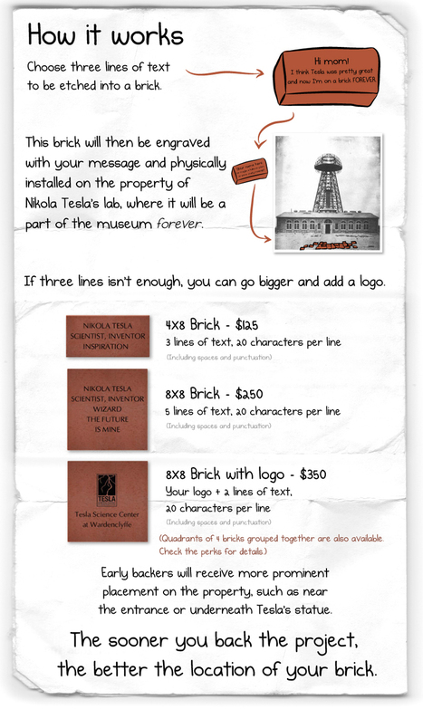 Buy a Brick for The Nikola Tesla Museum   Projects We Love   Scoop.it