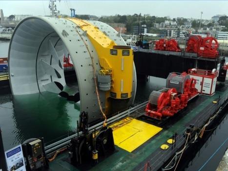Une gigantesque turbine marémotrice mise en service en Nouvelle Écosse | Veille Technologique | Scoop.it
