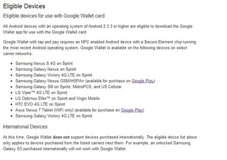 Google bringing Wallet support to all 2.3+ devices, physical card in the works? | MobileandSocial | Scoop.it