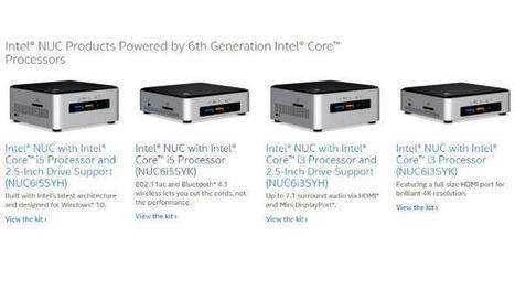 Mini-PC Intel NUC: Bald mit Skylake-Mobilprozessoren | Weblese | Scoop.it
