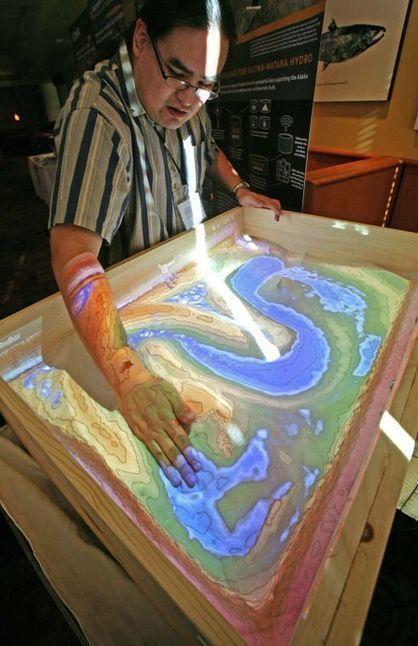 De caja de arena a mesa topográfica interactiva | tecno4 | Scoop.it