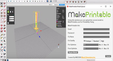 Makeprintable 3D mesh repair for Sketchup | Updates on 3D modeling world | Scoop.it