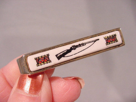 Nifty Vintage Tie Clasp with Rifle and Drums by Shields Co. | Antiques & Vintage Collectibles | Scoop.it