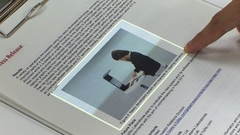 Touchscreen interface for seamless data transfer between the real and virtual worlds | Technologies & Web Quezako | Scoop.it