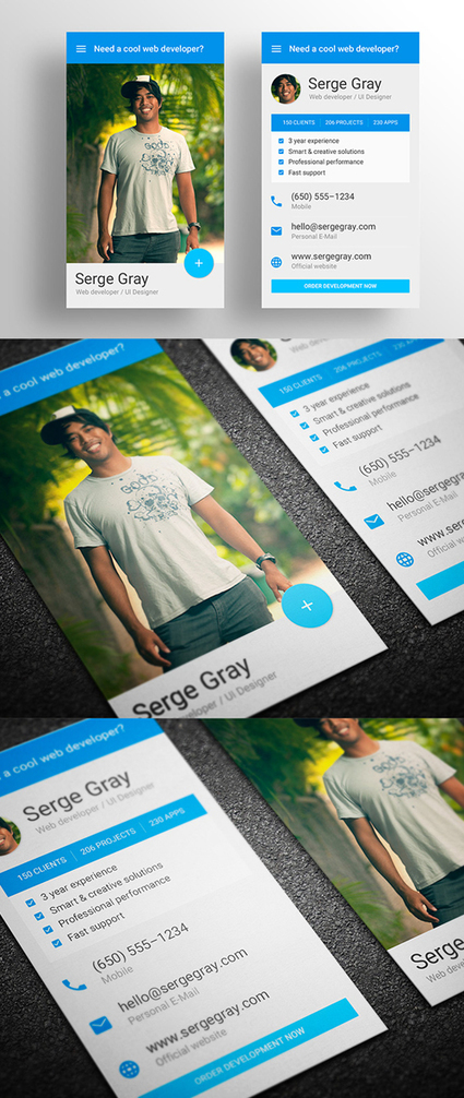 20 Corporate Creative Business Card PSD Templates | MarketingHits | Scoop.it