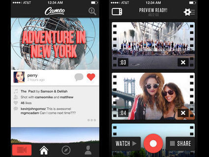 Cameo fait plus fort que Vine, mais sur iPhone uniquement | Telecom et applications mobiles | Scoop.it