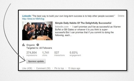 Lancer une campagne de Sponsored Updates sur LinkedIn | Everything you need… | Scoop.it