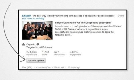 Lancer une campagne de Sponsored Updates sur LinkedIn | Les conseils de LaMarketeam | Scoop.it