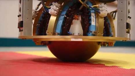 Omnidrectional robot moves on an electrically charged ball to keep things simple | Actual IT | Scoop.it