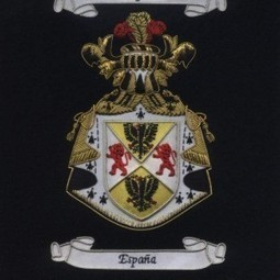 Espana - Valdovinos Embroidered Family Crests with Gold / Silver Bullion Wires / ( Coat of Arms ) | Well Done Badges Co | Scoop.it