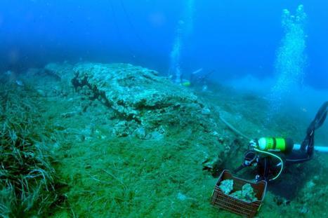 PHOTOS. Découvrez l'épave du 1er siècle avant J.-C. retrouvée au large de Hyères | LVDVS CHIRONIS 3.0 | Scoop.it