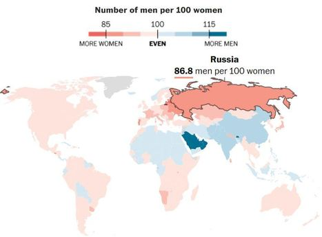 See where women outnumber men around the world (and why) | Geography Education | Scoop.it