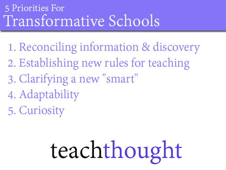 5 Priorities For Transformative Schools | Educational Administration & Leadership | Scoop.it