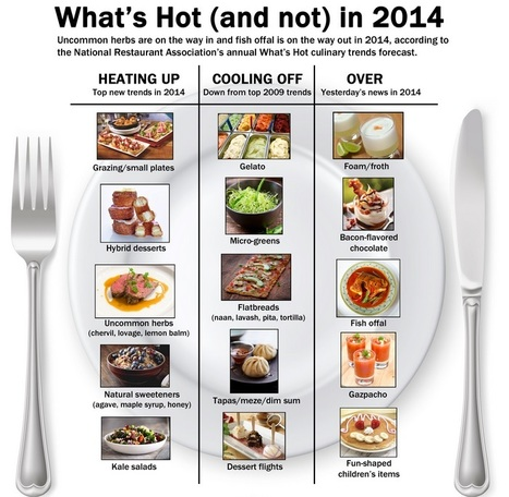Food Business News | Infographic Whats hot and not in 2014 | Good things | Scoop.it