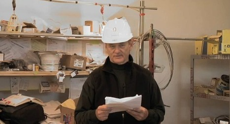 Bill Murray Reads Poetry at Construction Site | Human Writes | Scoop.it