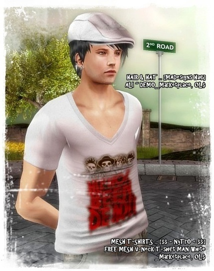 Free@Men's MESH T-Shirts & Shirts | Freebies and cheapies in second life. | Scoop.it