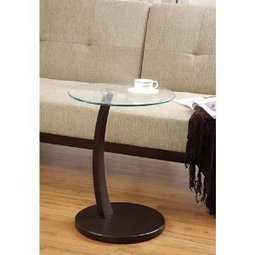 Coaster 900256 Round Accent Table with Glass Top and Cappuccino Base | Home Office Furniture | Scoop.it