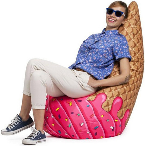 Ice Cream Cone Bean Bag Chair | Furniture | Home | Kids Furniture and Nursery | Scoop.it