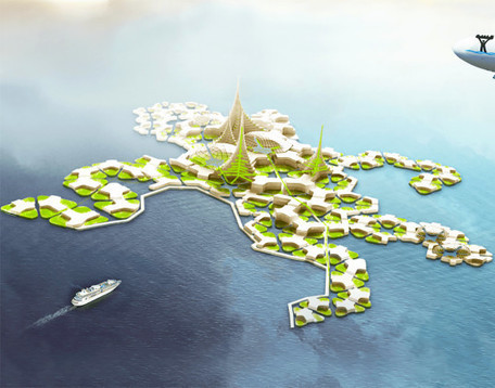 Plans for world's first self-sufficient floating city advance to next phase | architecture verte | Scoop.it