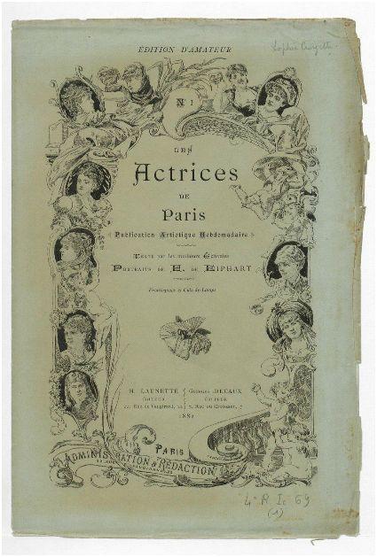 Les actrices de Paris en 1882 | Carnet Web de Généalogie  Blog de généalogie de Gilles Dubois | L'écho d'antan | Scoop.it