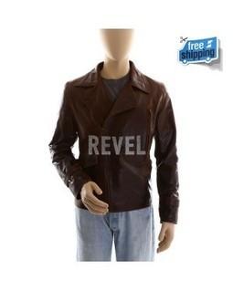 Men's Brown Leather Biker Jacket - Captai | Leather Jacket Stylish | Scoop.it
