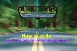 How to write a good introductory and concluding paragraph ... | International Literacy Management | Scoop.it
