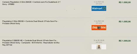 Comparando preço de PlayStation 3 Slim 250GB Sony em 4 lojas - busca preços | busca preços | Scoop.it