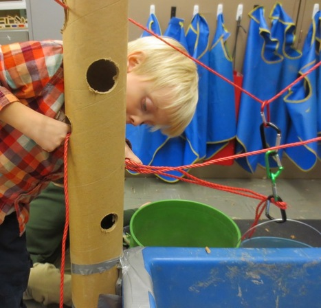 SAND AND WATER TABLES: TALL CARDBOARD TUBES AND ROPES | Early childhood literacy | Scoop.it