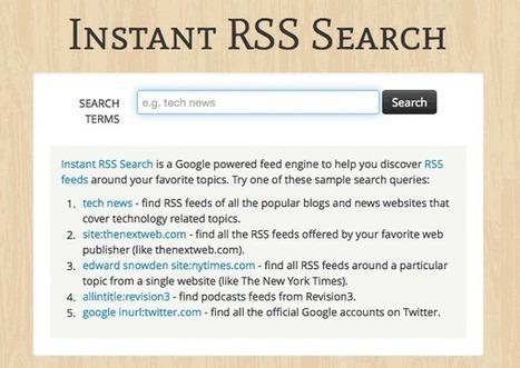 Instant RSS Search, buscador de feeds | Batiburrillo.net | Scoop.it