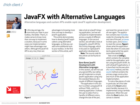JavaFX with Alternative Languages - #JavaMagazine | Desarrollo WEB | Scoop.it